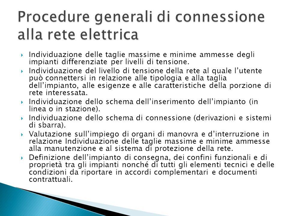 Procedure generali di connessione alla rete elettrica