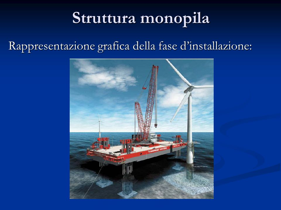 Struttura monopila Rappresentazione grafica della fase d'installazione: