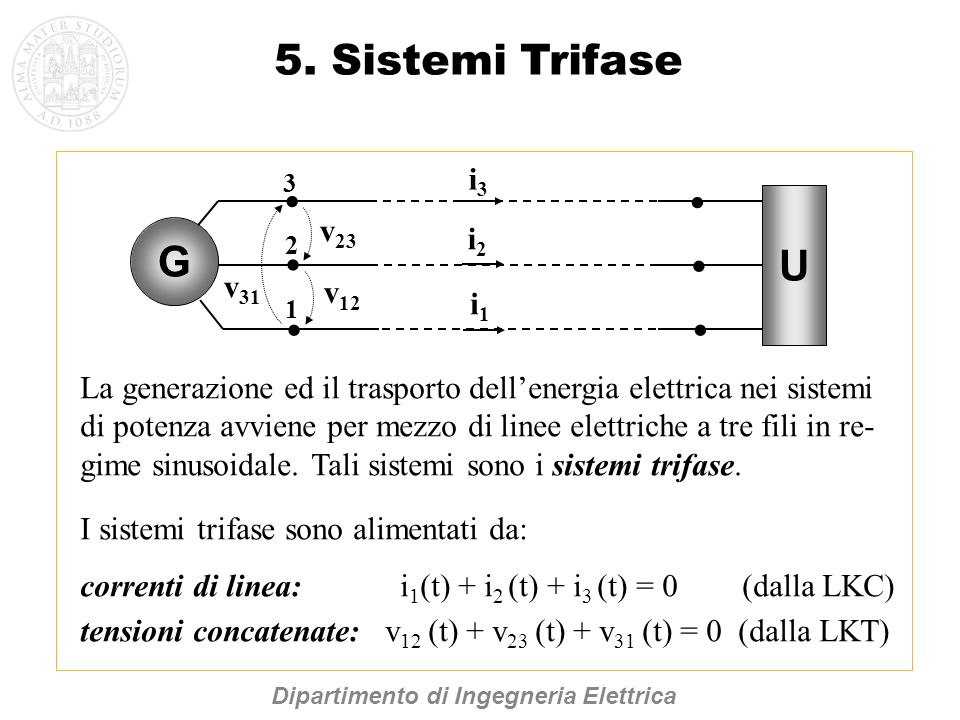5. Sistemi Trifase U G i3 v23 i2 · v31 v12 i1