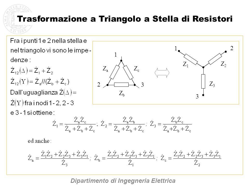 Trasformazione a Triangolo a Stella di Resistori