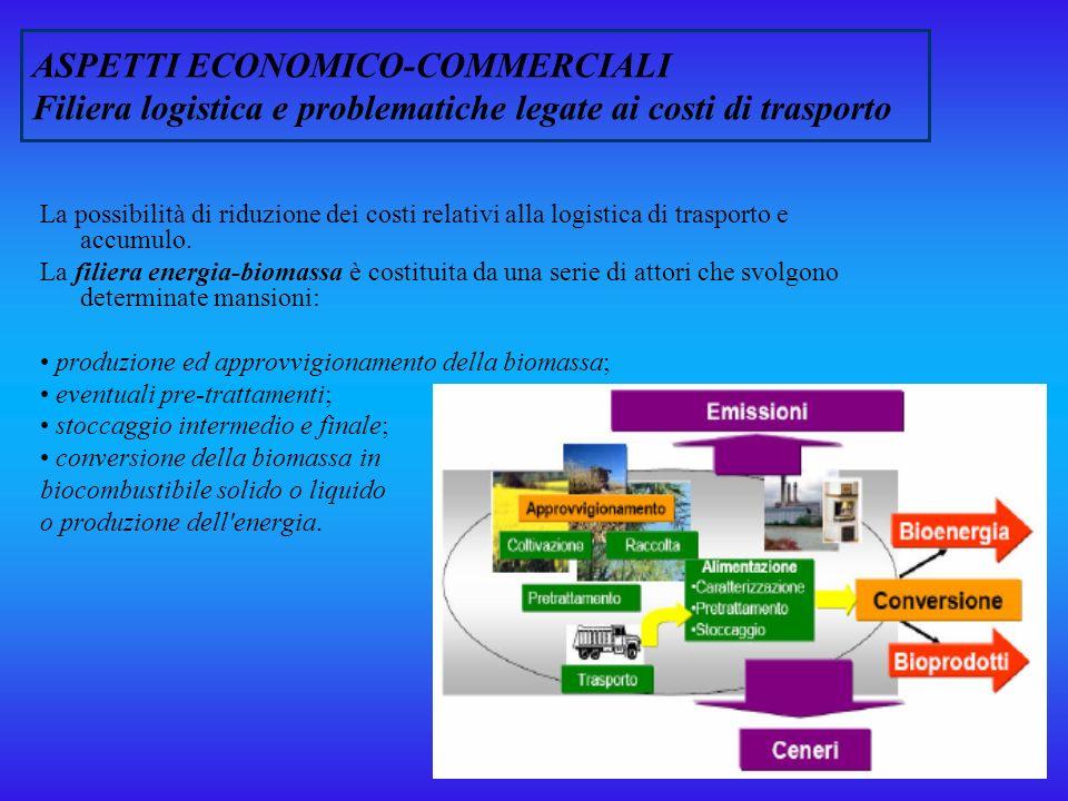 ASPETTI ECONOMICO-COMMERCIALI Filiera logistica e problematiche legate ai costi di trasporto