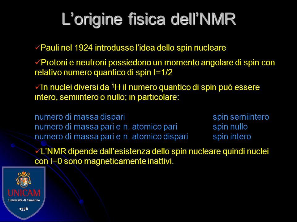 L'origine fisica dell'NMR