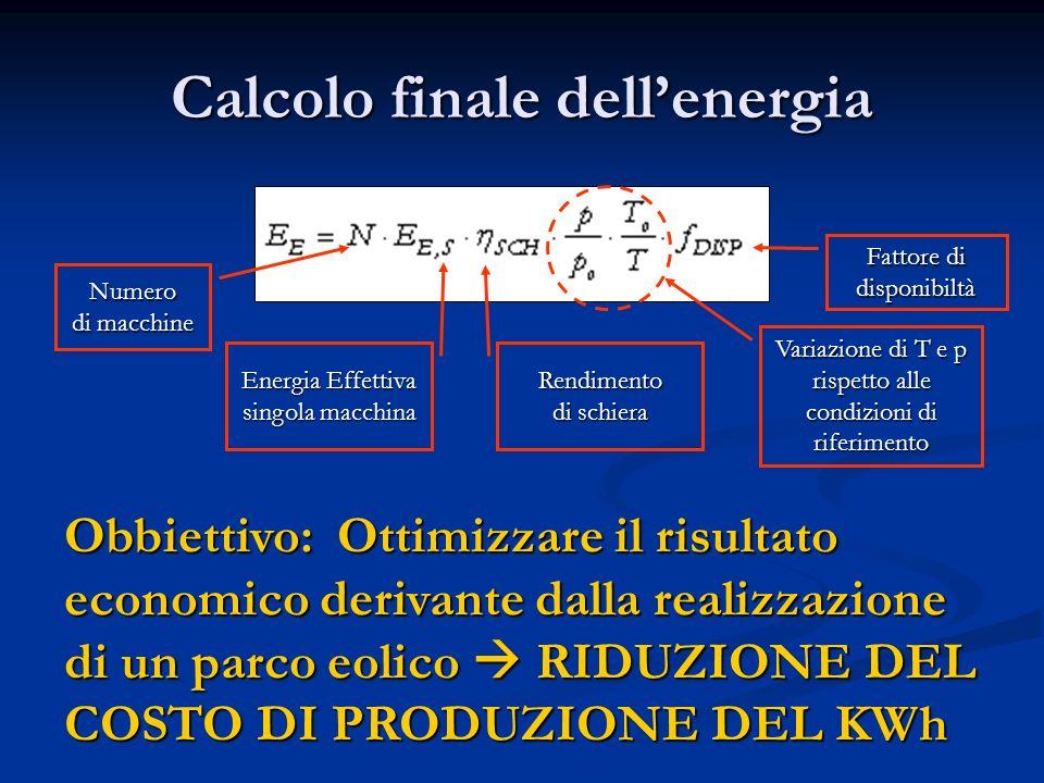 Calcolo finale dell'energia