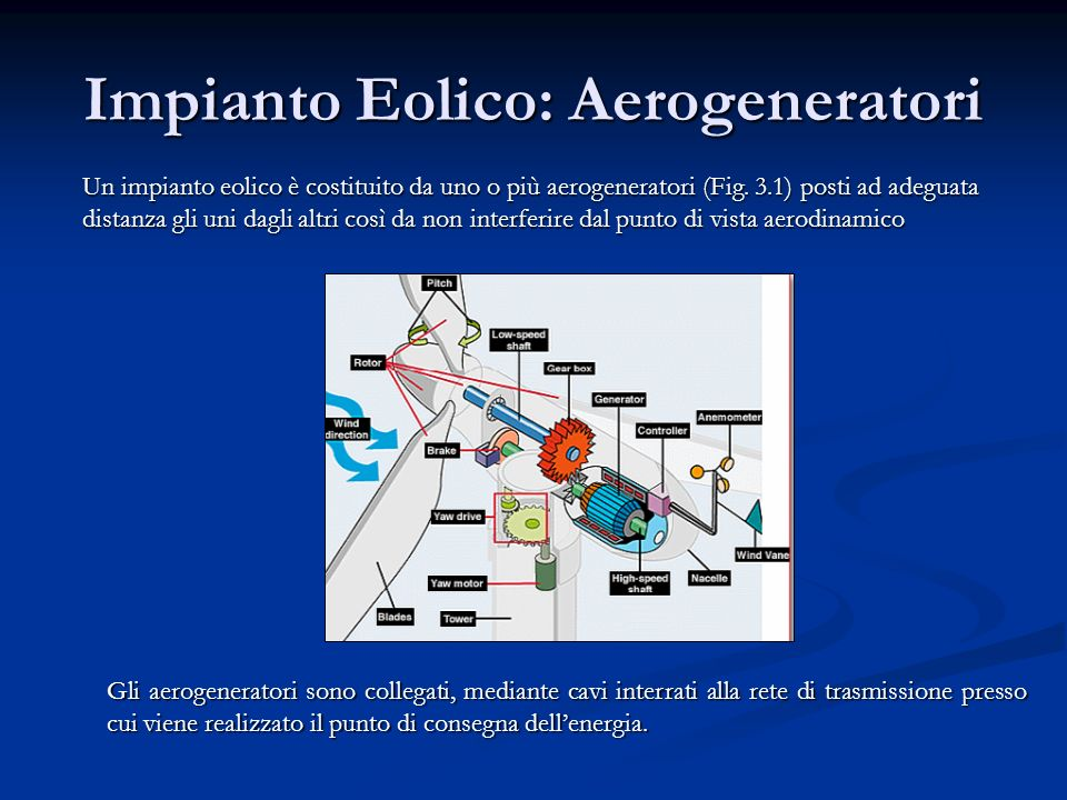 Impianto Eolico: Aerogeneratori