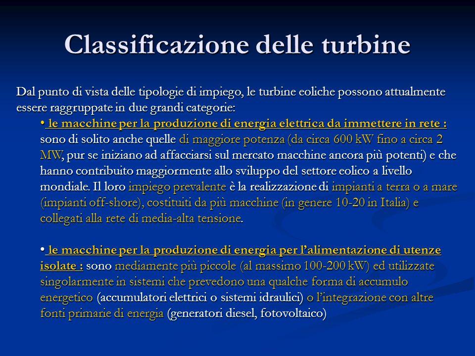 Classificazione delle turbine