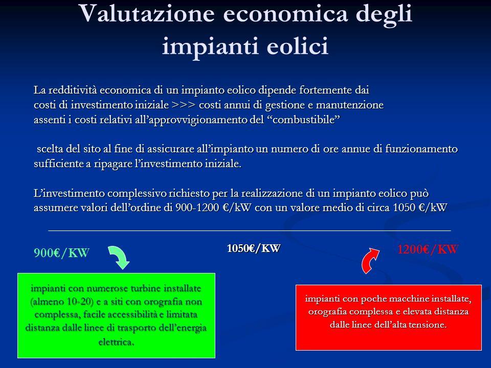 Valutazione economica degli impianti eolici