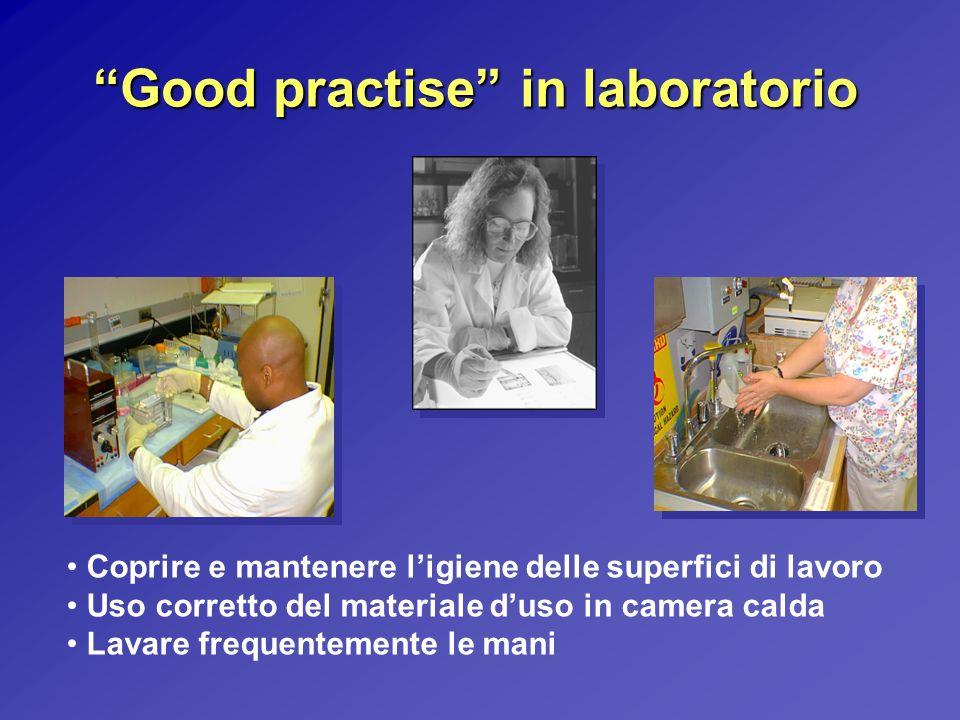 Good practise in laboratorio