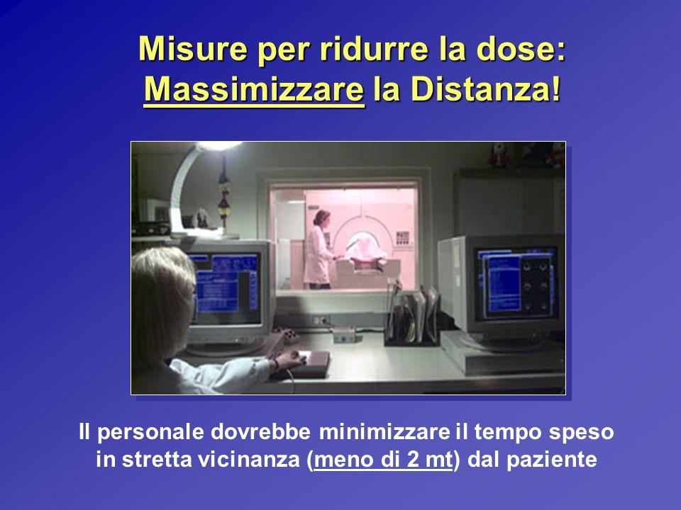 Misure per ridurre la dose: Massimizzare la Distanza!