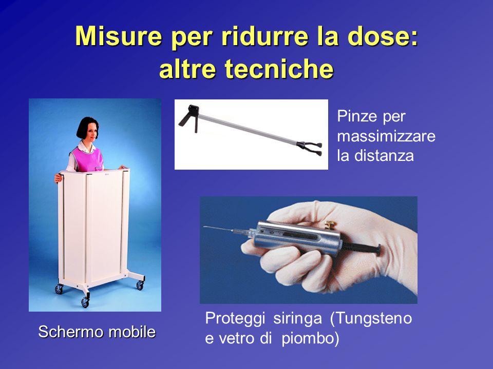 Misure per ridurre la dose: altre tecniche