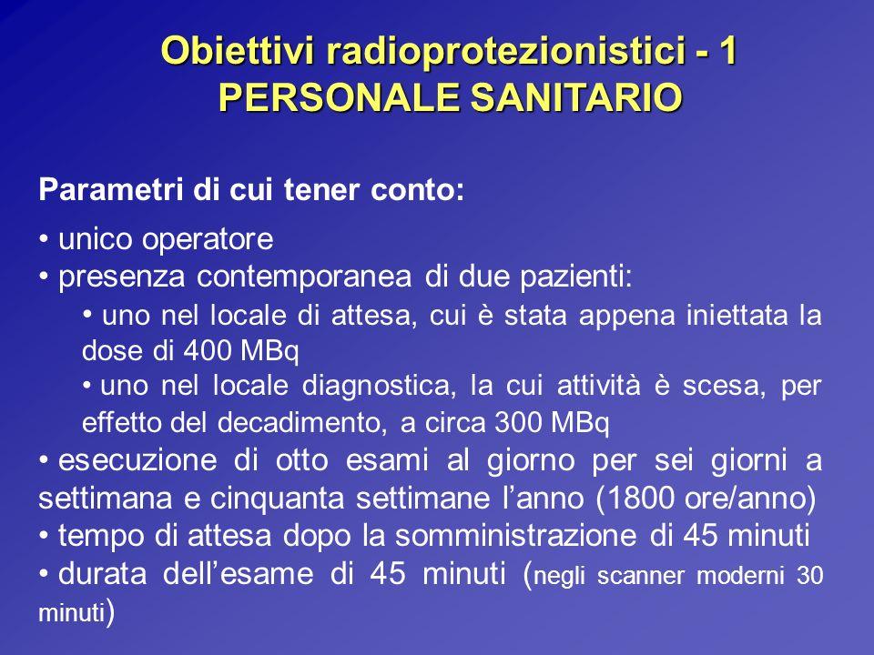Obiettivi radioprotezionistici - 1