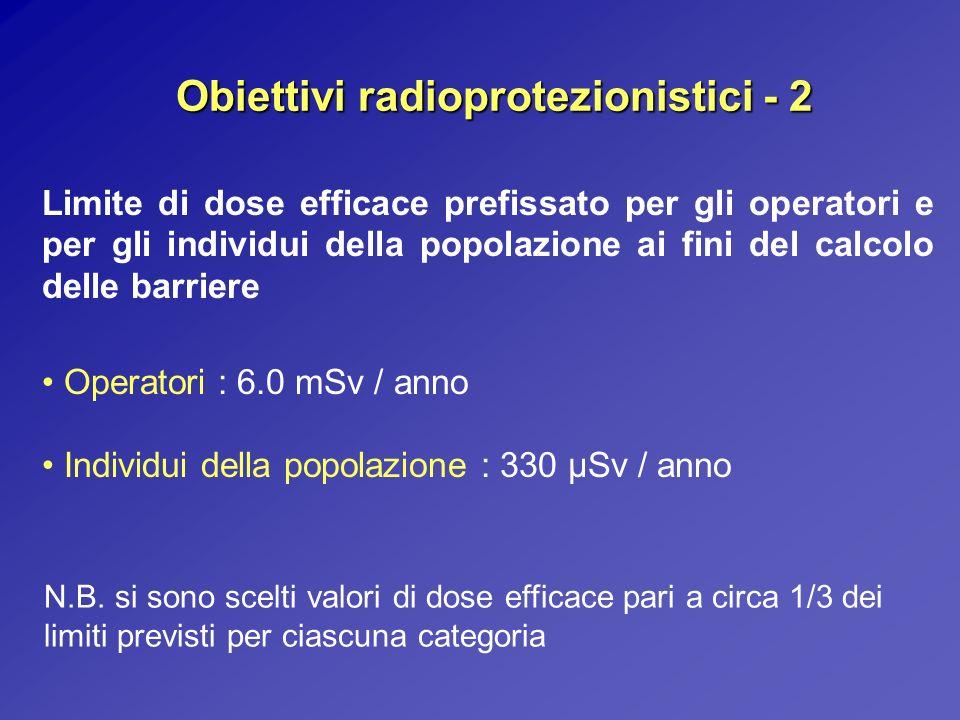 Obiettivi radioprotezionistici - 2