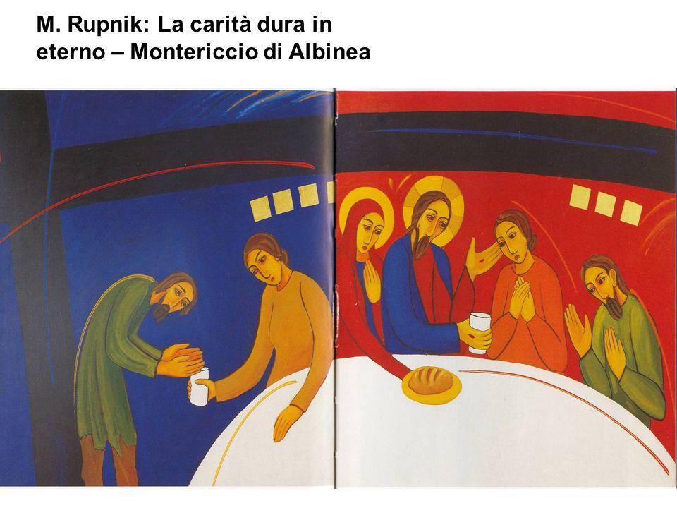 M. Rupnik: La carità dura in eterno – Montericcio di Albinea