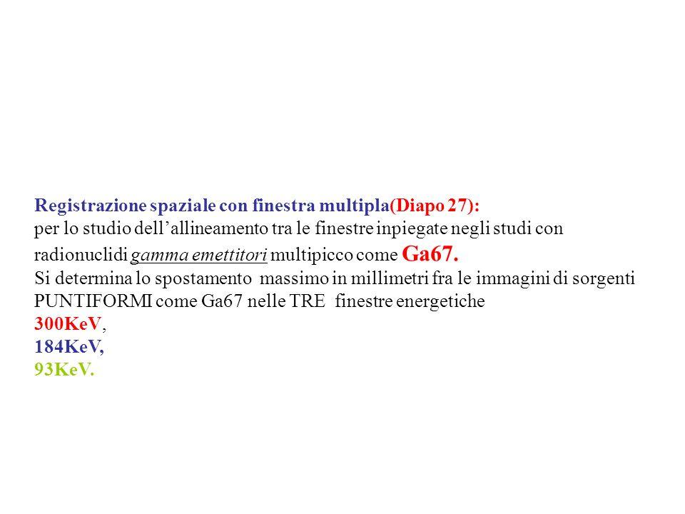 Registrazione spaziale con finestra multipla(Diapo 27):