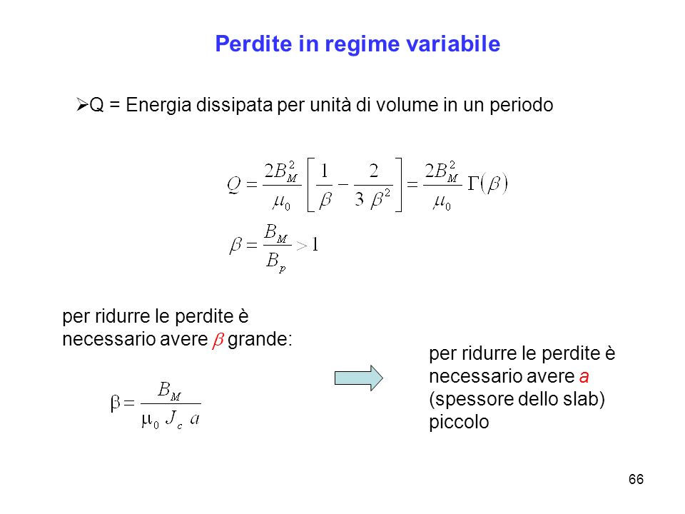 Perdite in regime variabile
