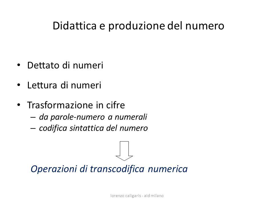 Didattica e produzione del numero