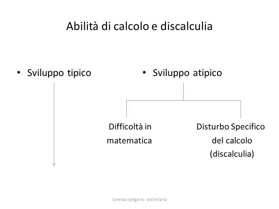 Abilità di calcolo e discalculia
