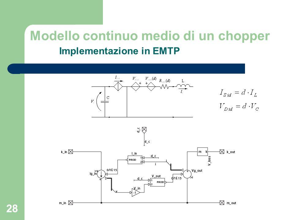Modello continuo medio di un chopper Implementazione in EMTP