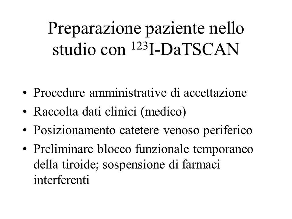 Preparazione paziente nello studio con 123I-DaTSCAN