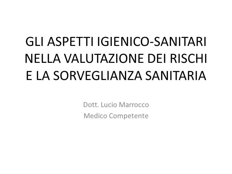 Dott. Lucio Marrocco Medico Competente