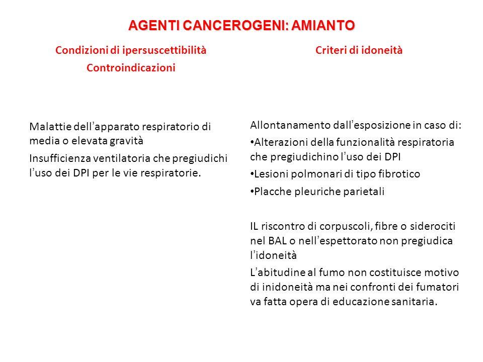 AGENTI CANCEROGENI: AMIANTO