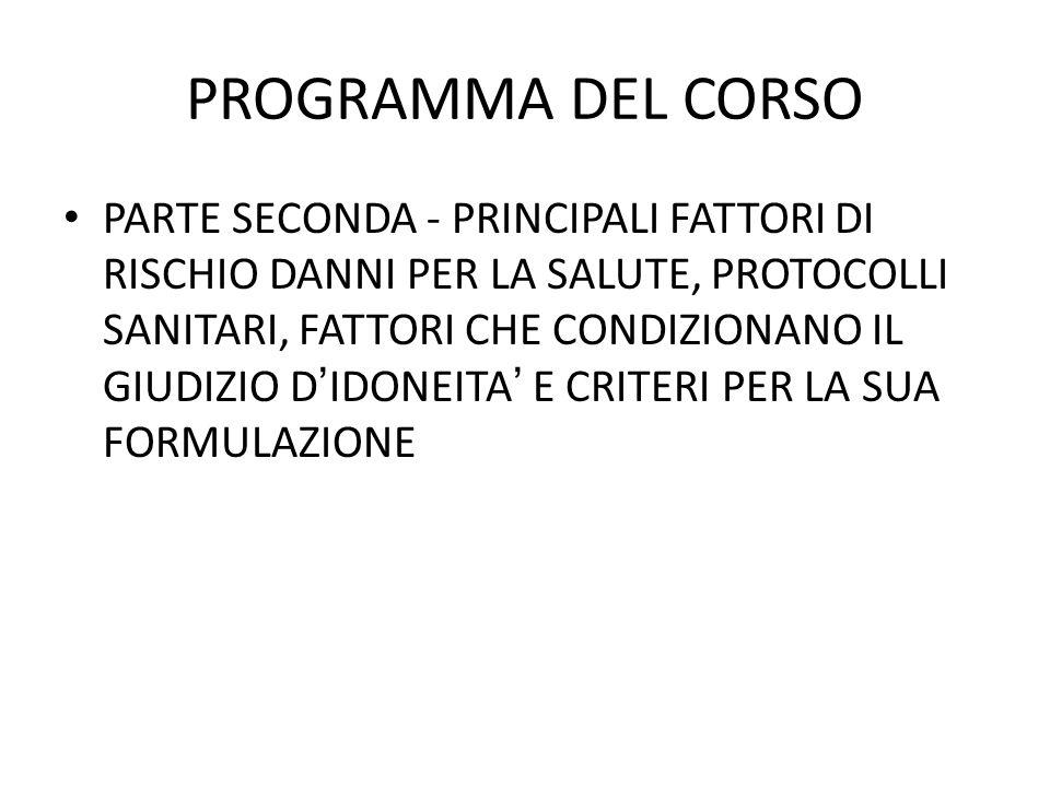 PROGRAMMA DEL CORSO