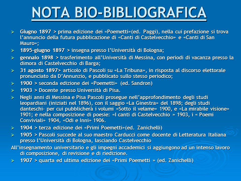 NOTA BIO-BIBLIOGRAFICA