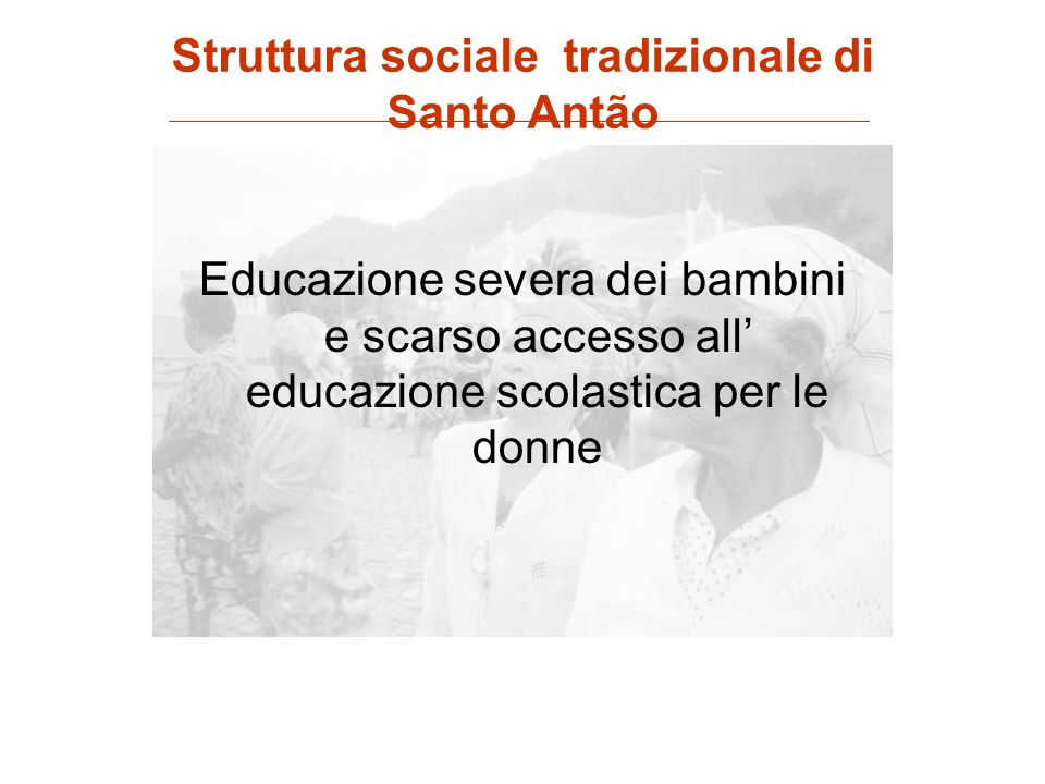 Struttura sociale tradizionale di Santo Antão