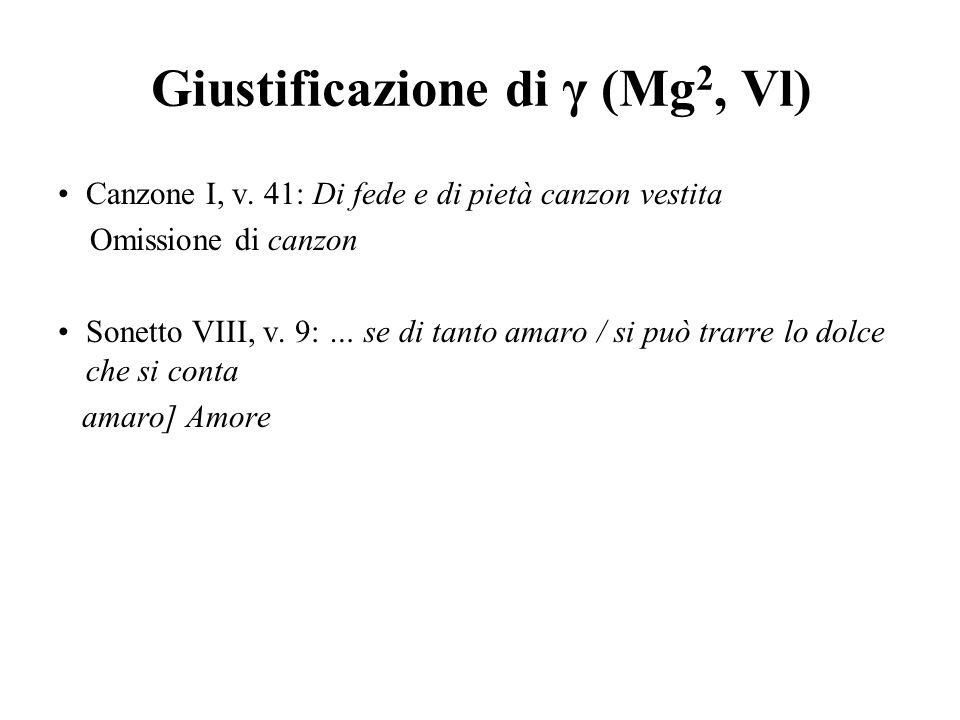 Giustificazione di γ (Mg2, Vl)
