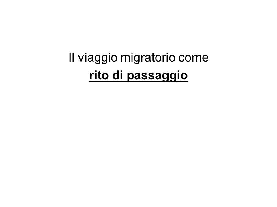Il viaggio migratorio come