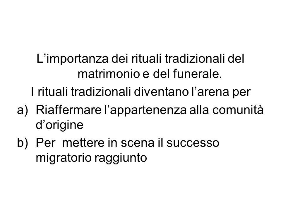 L'importanza dei rituali tradizionali del matrimonio e del funerale.