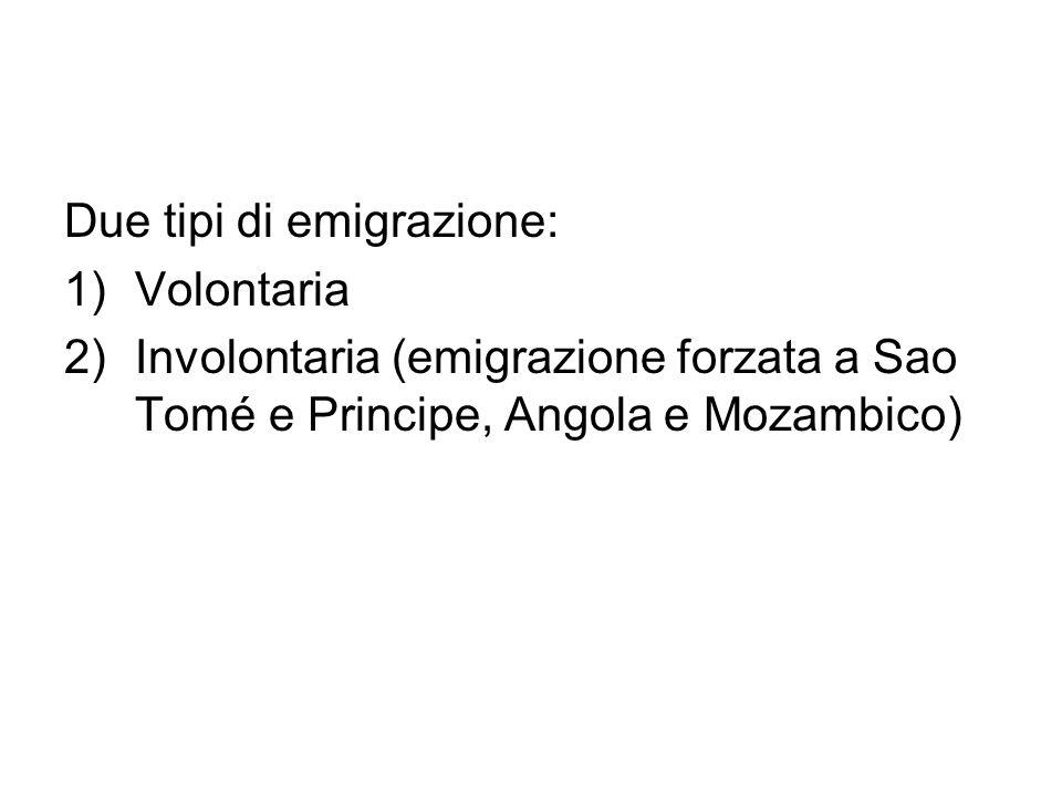 Due tipi di emigrazione: