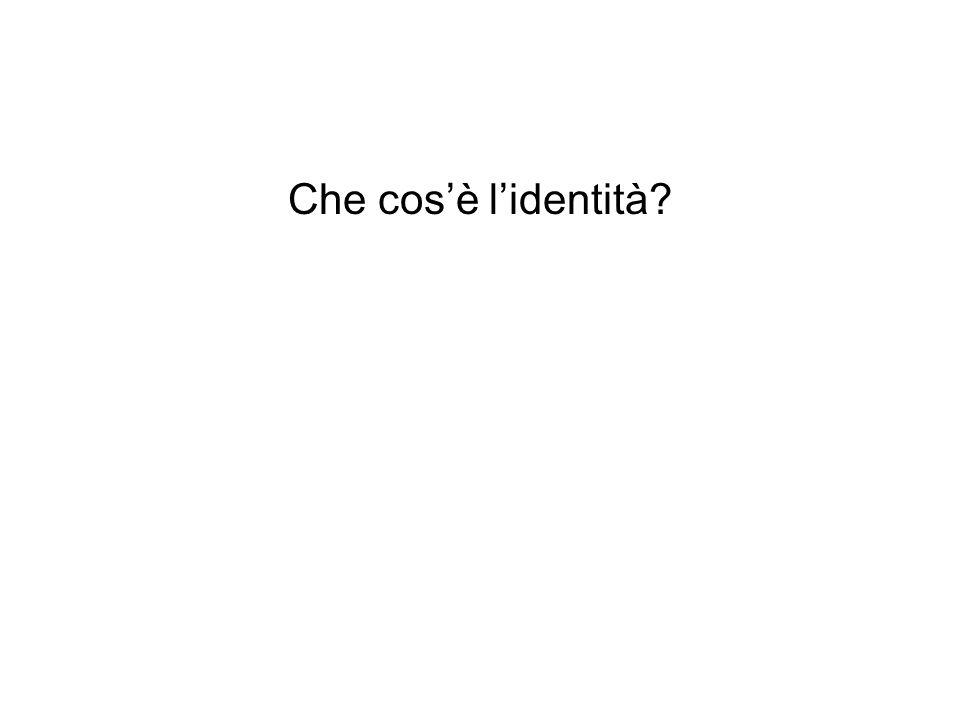Che cos'è l'identità