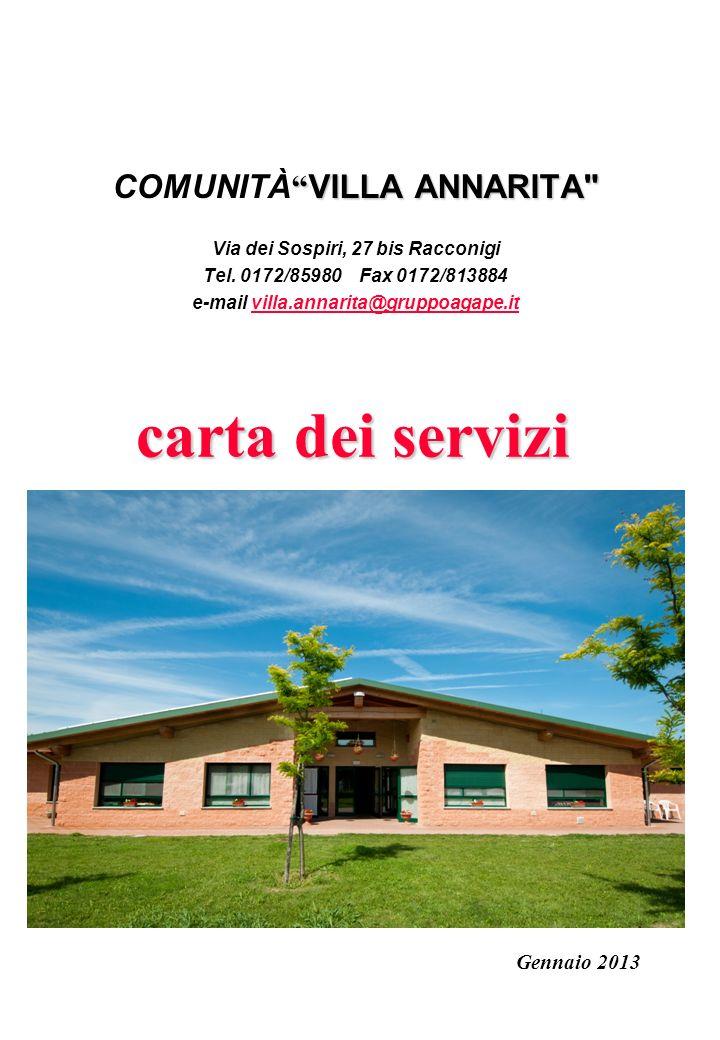 carta dei servizi COMUNITÀ VILLA ANNARITA Gennaio 2013