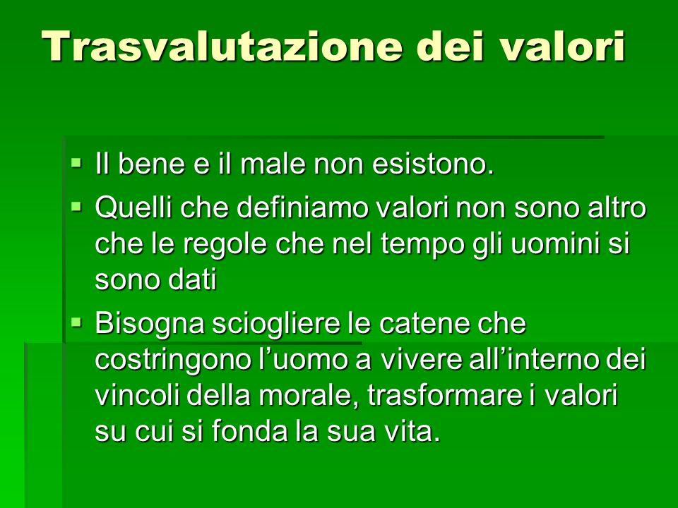 Trasvalutazione dei valori