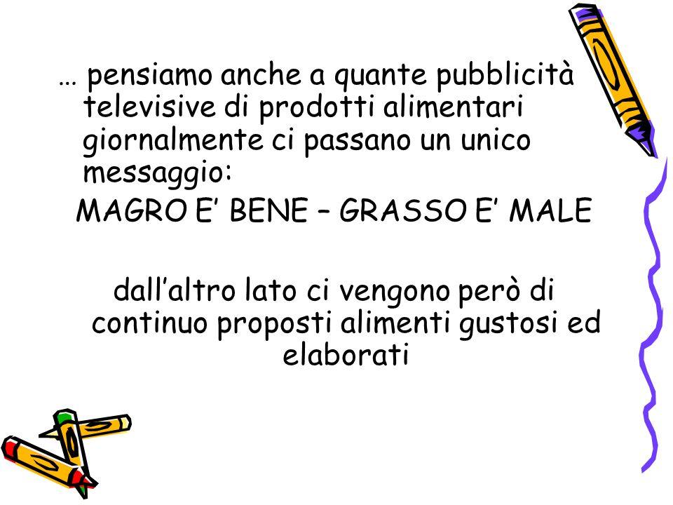 MAGRO E' BENE – GRASSO E' MALE