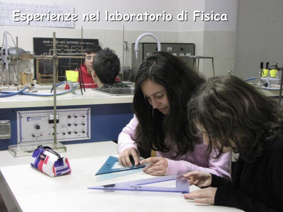 Esperienze nel laboratorio di Fisica