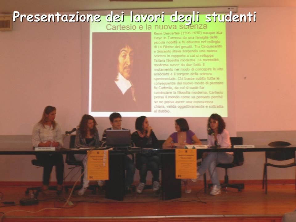 Presentazione dei lavori degli studenti