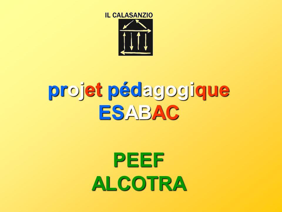 projet pédagogique ESABAC