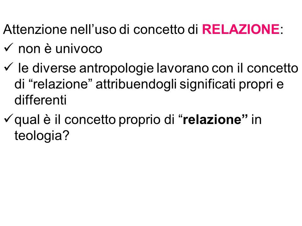 Attenzione nell'uso di concetto di RELAZIONE: