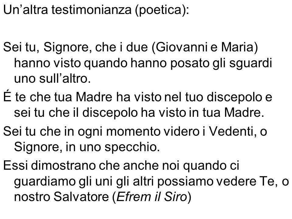 Un'altra testimonianza (poetica):