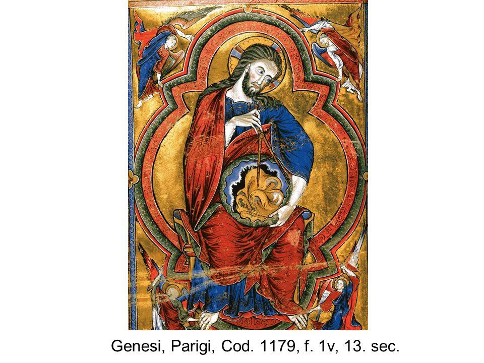 Genesi, Parigi, Cod. 1179, f. 1v, 13. sec.