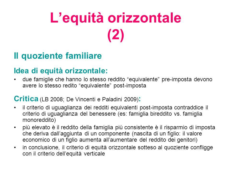 L'equità orizzontale (2)