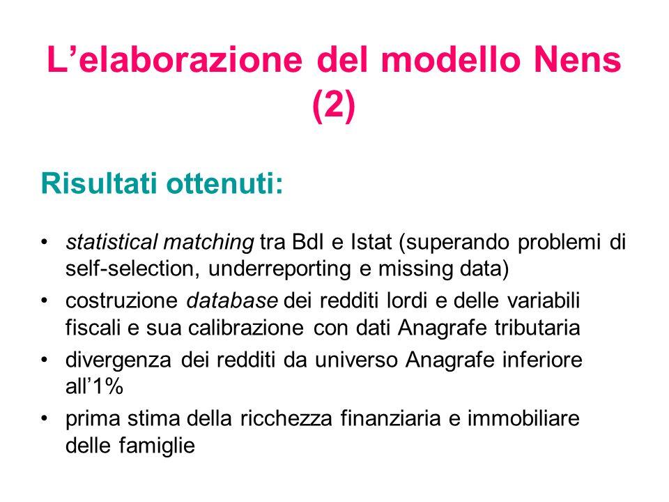 L'elaborazione del modello Nens (2)