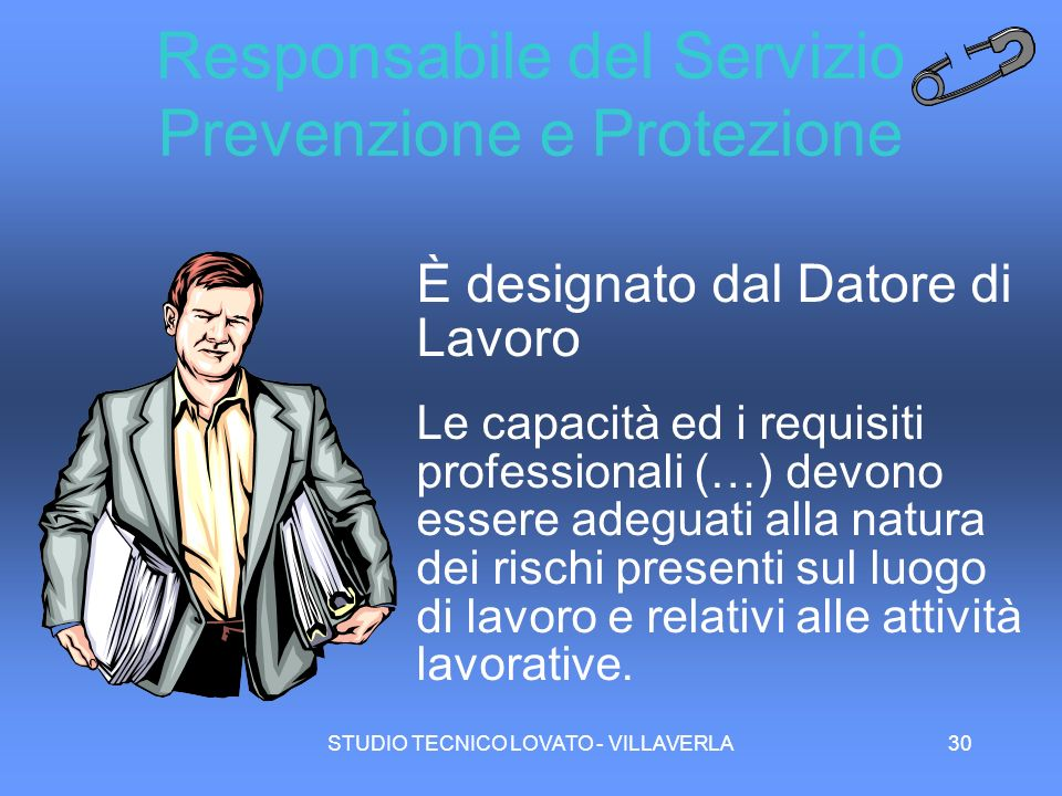 Responsabile del Servizio Prevenzione e Protezione