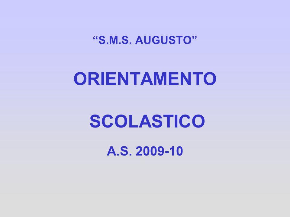 S.M.S. AUGUSTO ORIENTAMENTO SCOLASTICO