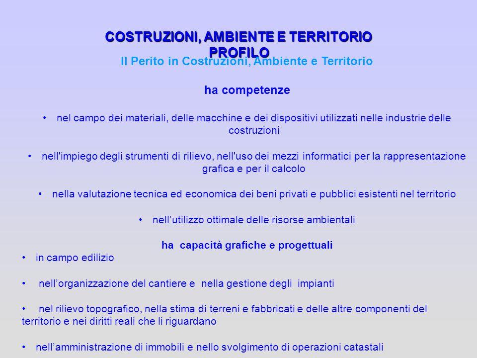 COSTRUZIONI, AMBIENTE E TERRITORIO PROFILO
