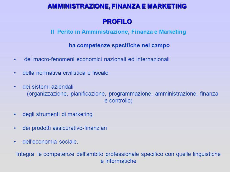 AMMINISTRAZIONE, FINANZA E MARKETING PROFILO