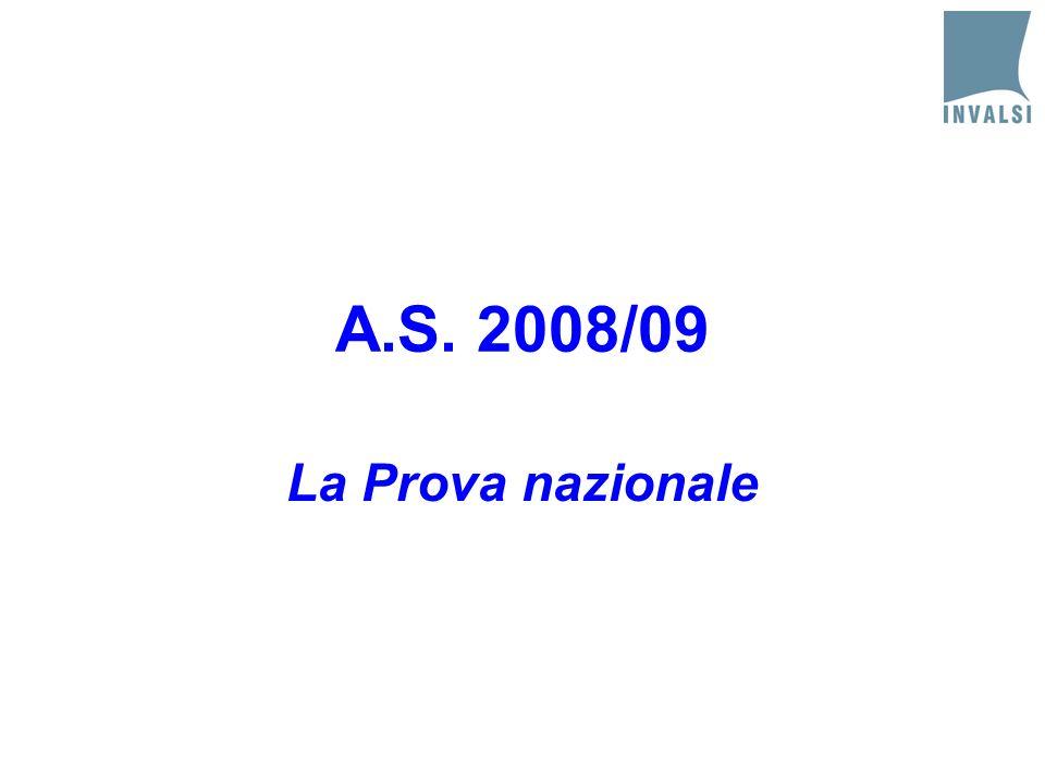 A.S. 2008/09 La Prova nazionale