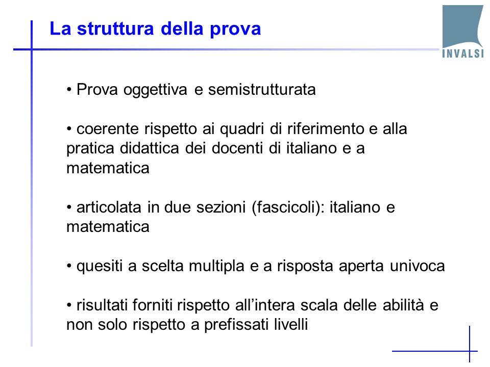 La struttura della prova