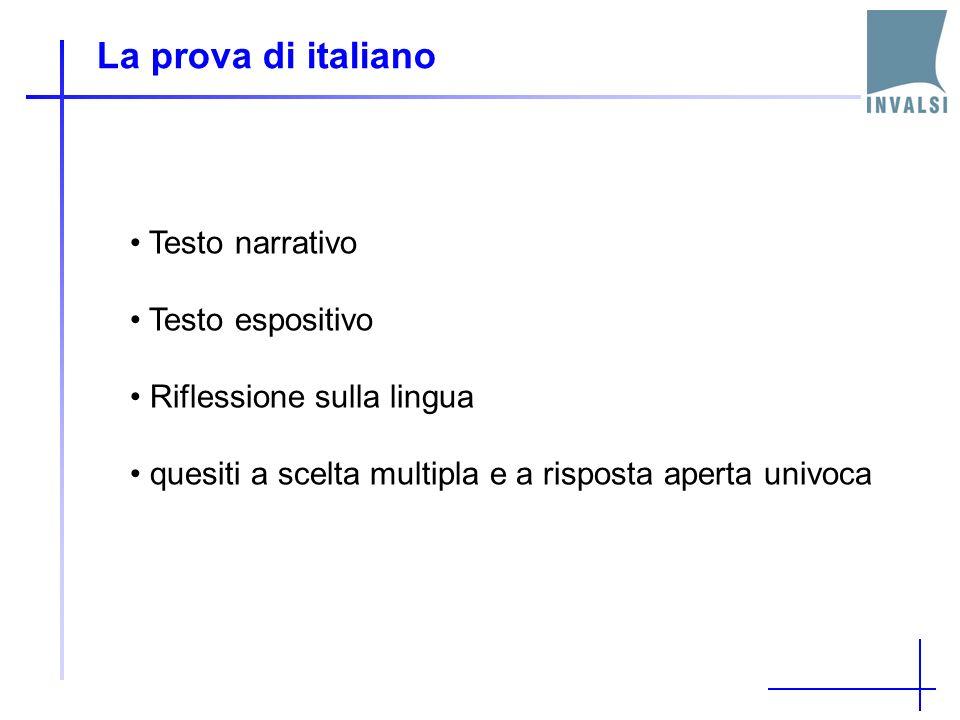 La prova di italiano Testo narrativo Testo espositivo